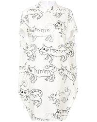 Marni - Cat Print Shirt Dress - Lyst