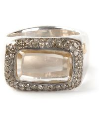 Rosa Maria - 'nasila' Grey Diamond Topaz Ring - Lyst