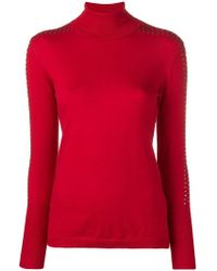 Liu Jo - Studded Turtle-neck Jumper - Lyst