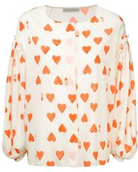 Vika Gazinskaya - 8 Of Hearts Blouse - Lyst