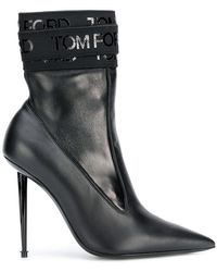 Tom Ford - Logo Bandage Pointed Ankle Boots - Lyst