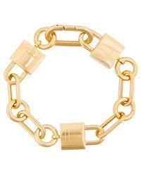 AMBUSH Gold padlock link bracelet - Metallic PXWxGMZ
