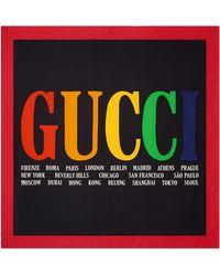 Gucci - Cities Print Silk Scarf - Lyst
