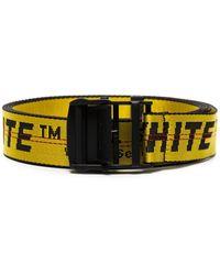 Off-White c/o Virgil Abloh Cinturón estilo industrial con logo - Amarillo
