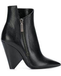Saint Laurent - Niki 85 Asymmetric Boots - Lyst