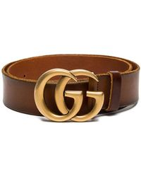 c4fb8f60439 Lyst - Gucci Embellished Leather Belt in Brown