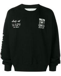 Off-White c/o Virgil Abloh Sweater Met Mona Lisa Print - Zwart