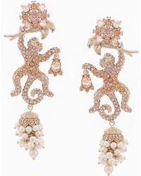 Marchesa notte - Embellished Monkey Earrings - Lyst