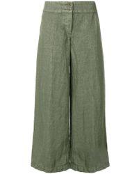 Aspesi - Wide Leg Cropped Trousers - Lyst