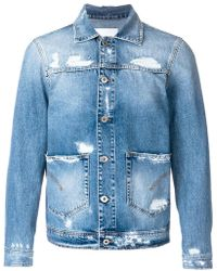 Dondup | Distressed Denim Jacket | Lyst