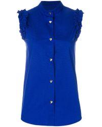 Love Moschino - Heart Buttons Sleeveless Shirt - Lyst
