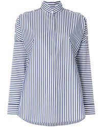Akris Punto - Striped Stand-collar Shirt - Lyst