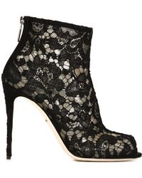 Dolce & Gabbana - Taormina Lace Ankle Boots - Lyst