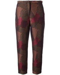 Rosetta Getty - Pantalones tapered estilo capri - Lyst