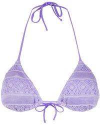 Cecilia Prado - Knitted Bikini Top - Lyst
