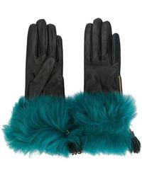 Prada - Fur Trim Gloves - Lyst