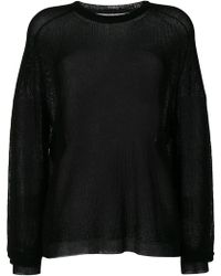 Laneus - Sheer Jumper - Lyst