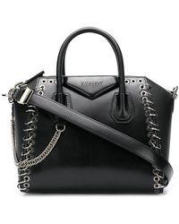 Givenchy - Black Antigona Eyelet Leather Tote - Lyst
