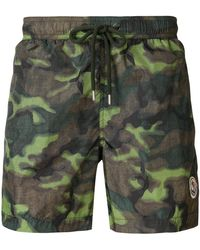 Moncler - Camouflage Print Swimming Trunks - Lyst