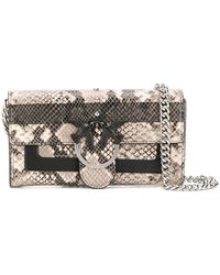 6e47342c0ecfc Pinko - Love Bag Wallet With Shoulder Strap - Lyst