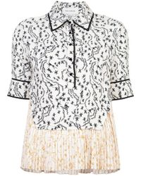 Yigal Azrouël - Orchid Vine Pleated Top - Lyst