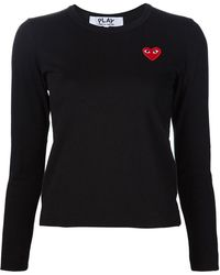 Play Comme des Garçons | Heart Application Sweatshirt | Lyst