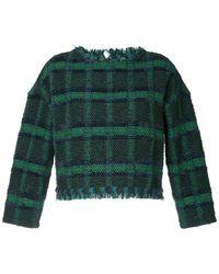 Coohem - Tartan Tweed Sweater - Lyst