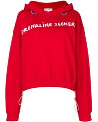 Mira Mikati - Embroidered Cropped Hoodie - Lyst
