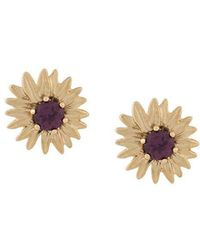 Aurelie Bidermann - 18kt Gold Rhodolite Bouquet Earrings - Lyst
