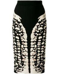 Alexander McQueen - Symmetry Pencil Skirt - Lyst