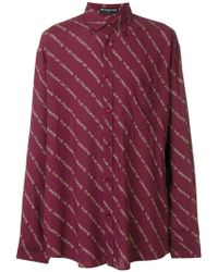 Balenciaga - Printed Shirt - Lyst