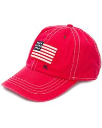 Polo Ralph Lauren - Logo Flag Embroidered Cap - Lyst