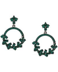 8f769ac278db Lyst - Oscar de la Renta Pear Drop Crystal Earrings in Metallic