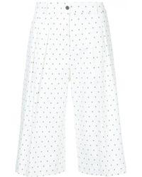 Jil Sander Navy - Micro-print Culottes - Lyst