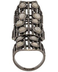 Loree Rodkin - Embellished Armour Ring - Lyst