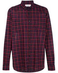 Saint Laurent - Plaid Shirt - Lyst