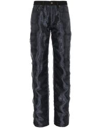 Y. Project - Straight Leg Jeans With Organza - Lyst