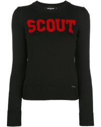 DSquared² - Contrast Scout Jumper - Lyst