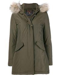 Woolrich - Fur Trimmed Parka Coat - Lyst