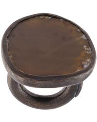 Monies - Agate Black Copper Ring - Lyst