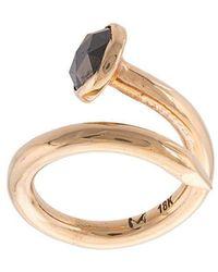M. Cohen - Casted 14k Black Diamond Detail Ring - Lyst