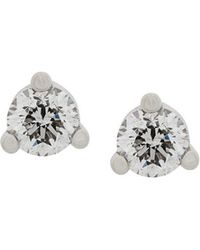 Delfina Delettrez - 18kt White Gold Dots Solitaire Diamond Earrings - Lyst