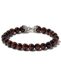David Yurman - Spiritual Beads Red Tiger Eye Bracelet - Lyst