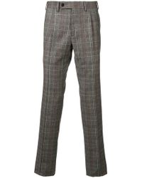 Gabriele Pasini - Check Pattern Tailored Trousers - Lyst