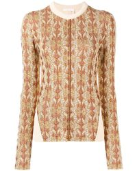 Chloé - Panelled Slim Fit Sweater - Lyst