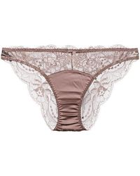 Fleur Of England - Signature Lace Brief - Lyst