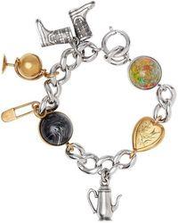 Burberry - Marbled Resin Charm Chain Bracelet - Lyst