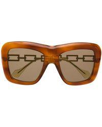 Gucci - Солнцезащитные Очки В Квадратной Оправе - Lyst