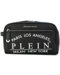 Philipp Plein - Printed Logo Wash Bag - Lyst