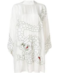 P.A.R.O.S.H. - Sequin Dragon Embroidered Dress - Lyst